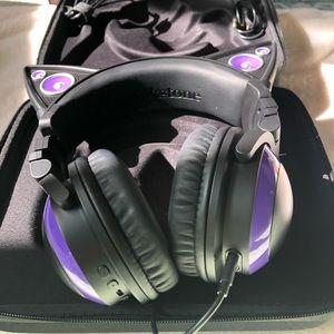 Purple Cat Ear Headsets Brookstone